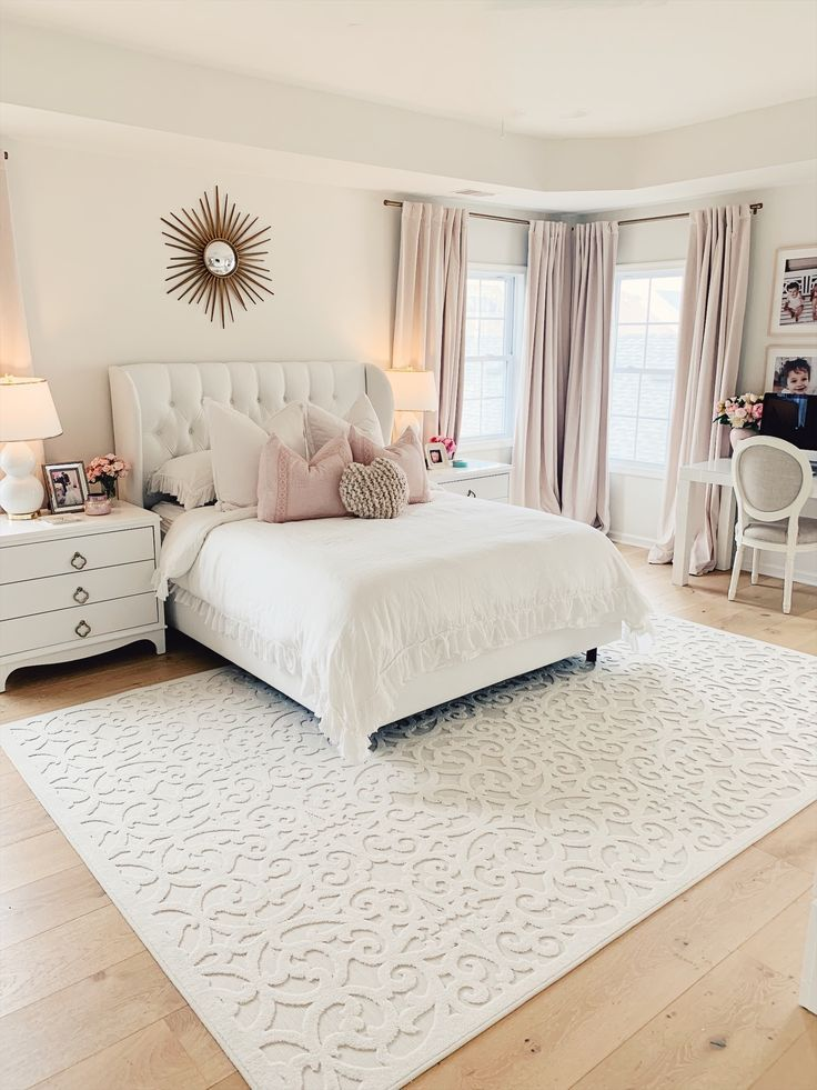 Drew Barrymore Walmart Flower Home Collection The Pink Dream White Master Bedroom Home Decor Bedroom Master Bedroom Makeover