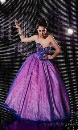 Prom dresses Prom dresses purple dress blue accent puffy