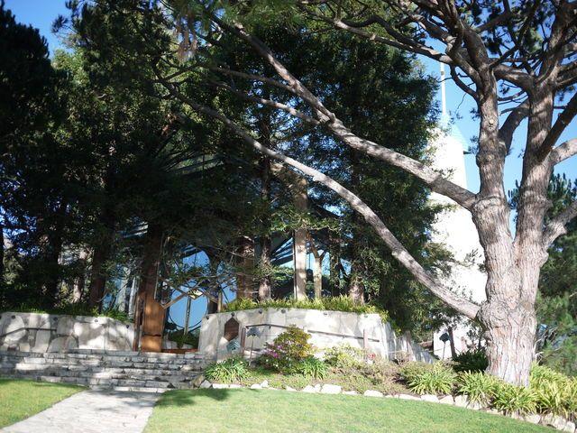 フランク・ロイド・ライトの息子さんデザイン ガラスの教会&サンペドロの韓国の鐘  Wayfarers Chapel Rancho Palos Verdes   California Los Angeles Architecture
