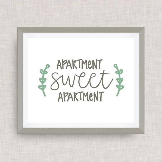 Hand calligraphy Apartment Sweet Apartment