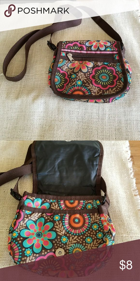 Small nylon bag Small crossbow bag. Flap cover with magnet latch. Front zipper pocket for phone or keys 8.5x7.5x2.5 Bags Crossbody Bags