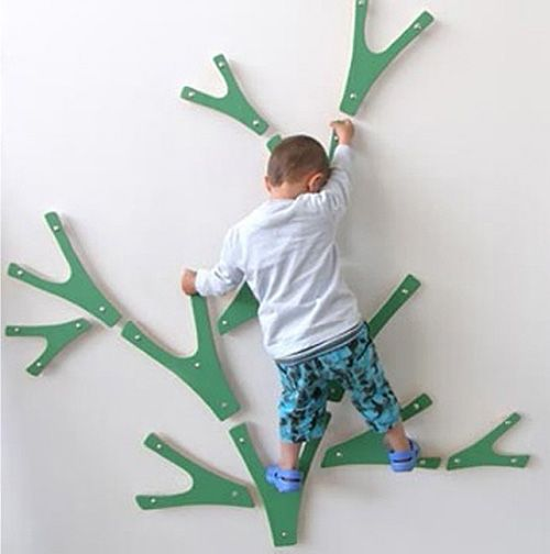 wall mounted kid climbing toy. Play room for my monkey child?