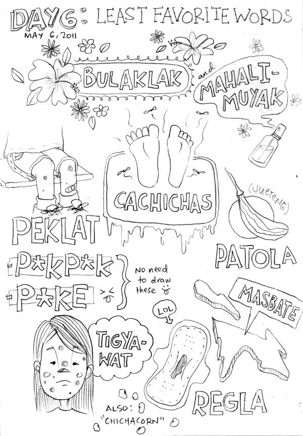 Disgusting drawings :D No need to translate these words into English, I think :P