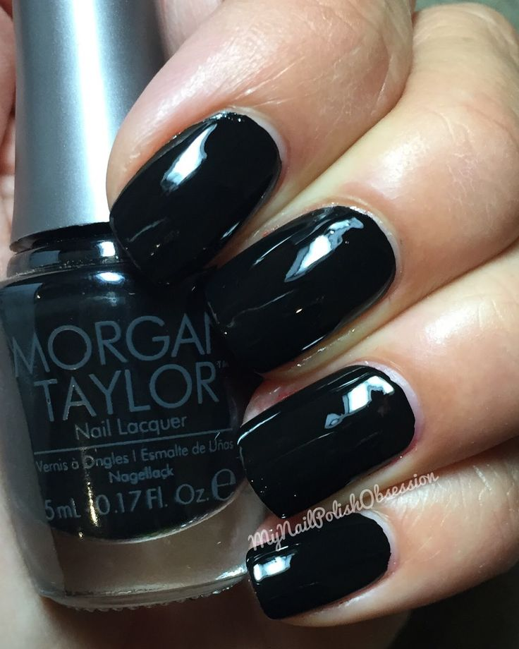 What Color Nail Polish With A Black Dress: Nails.quenalbertini: Morgan Taylor 'Little Black Dress