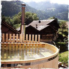 www.le1912.ch  | chalet à louer dans les Alpes suisses (Val-d'Illiez/Portes du Soleil) | chalet to rent in the Swiss Alps | bain suédois (swedish bath)  © virginie confino - all rights reserved. no reproduction allowed.