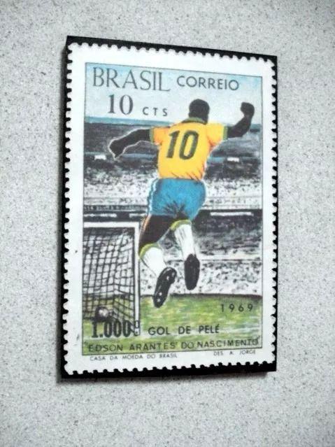 Placa Decorativa 28x19cm* Pelé 1.000 Gols * Img Selo Comemor - R$ 25,00 em Mercado Livre