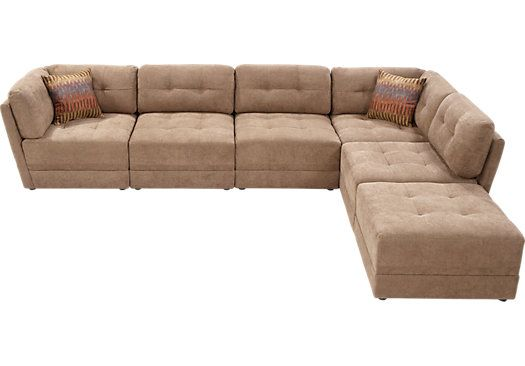 Shop for a Cozumel 6 Pc Truffle Sectional at Rooms To Go. Find Sectionals that will look great in your home and complement the rest of your furnituu2026  sc 1 st  Pinterest : sybella sectional - Sectionals, Sofas & Couches