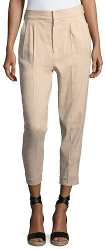 Isabel Marant Double-Pleat Cuffed Pants