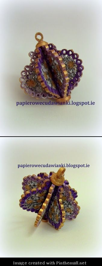 Part 2 of 2---http://papierowecudawianki.blogspot.com/2013/11/zawieszka-na-choinke-quilling.html