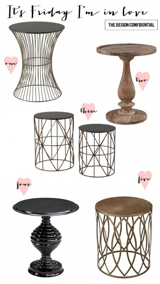 It's Friday I'm In Love: 5 Fab Side Tables | The Design Confidential