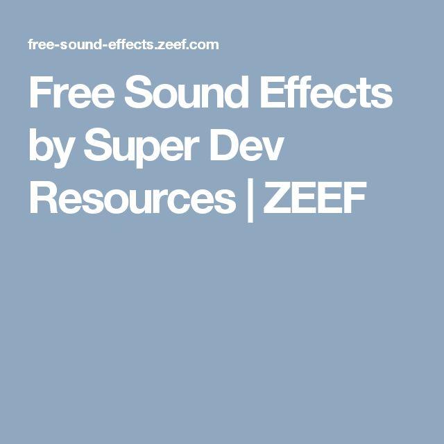 Free Sound Effects by Super Dev Resources | ZEEF
