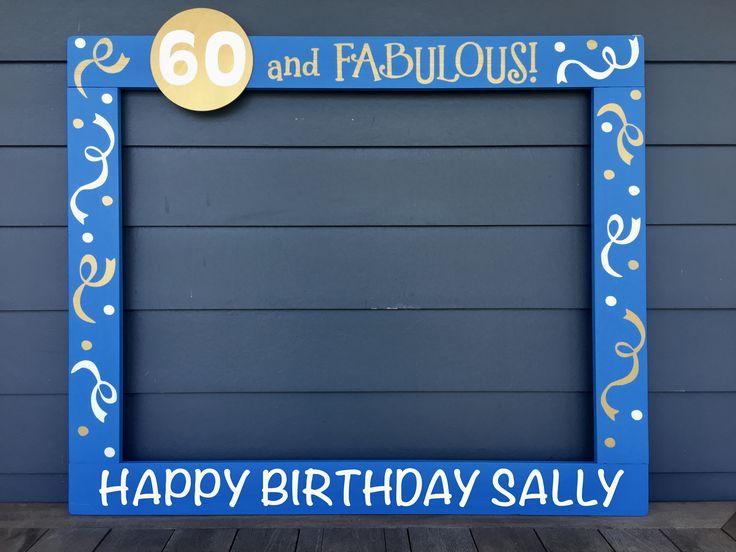 60th Birthday Photobooth Frame - 50th Birthday Photo Frame Prop - 40th Birthday Photo Booth - 30th Birthday Frame Prop - 75th Birthday Photobooth