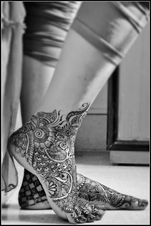 Henna tattoo, bridal henna for a desi wedding