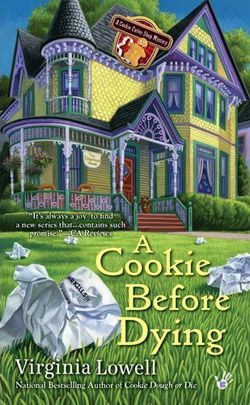 Virginia Lowell writes a cozy mystery series about a cookie cutter shop.