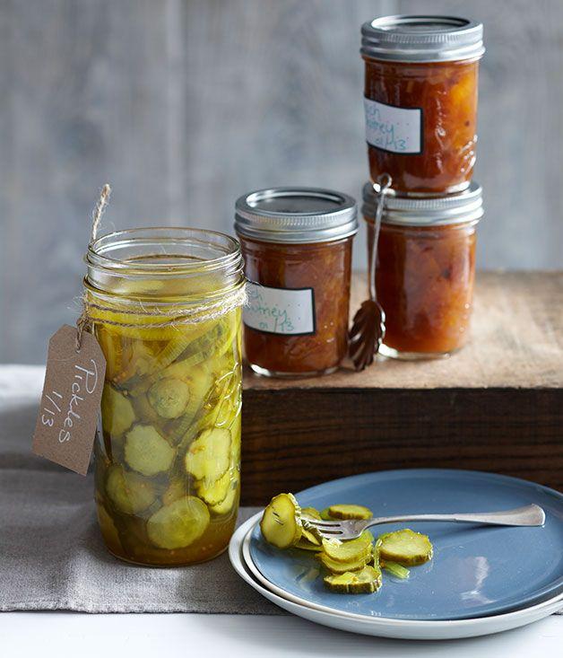 Australian Gourmet Traveller recipe for bread and butter pickles.