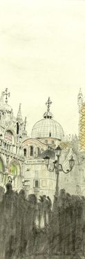 "Saatchi Art Artist Franco Fusari; Drawing, ""San Marco in Venice - G656"" #art"