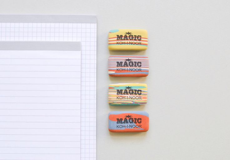 Eraser Magic Koh-i-noor marbled multi colored rubber by MightyPaperShop on Etsy https://www.etsy.com/listing/253811978/eraser-magic-koh-i-noor-marbled-multi