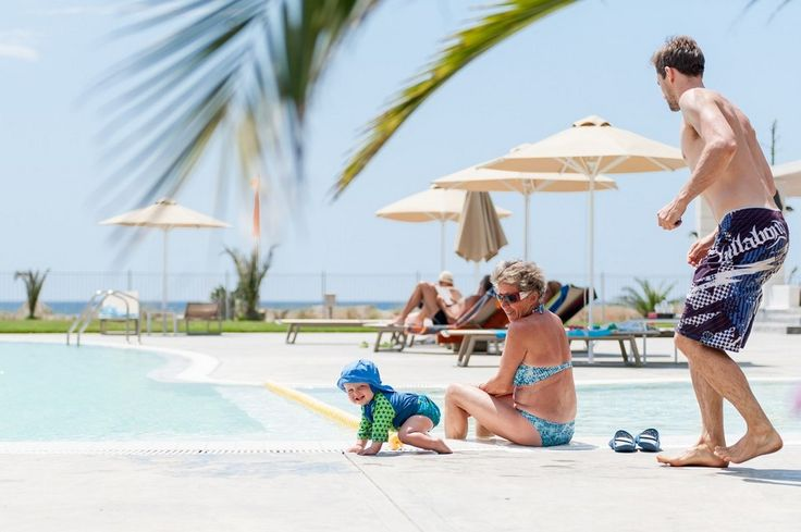 The swimming pool at the front of the camping suitable for all ages