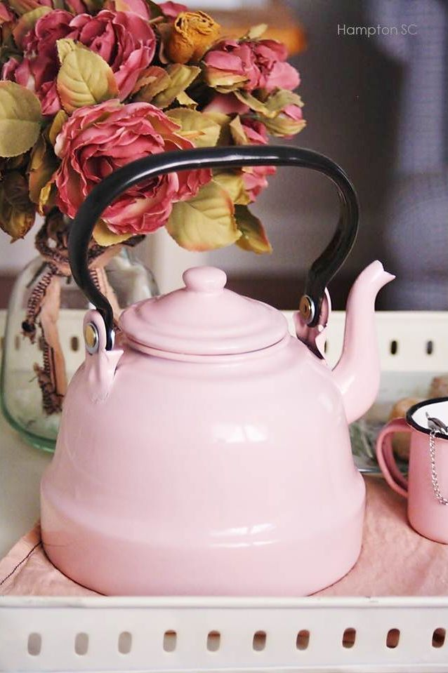 pretty tea kettle