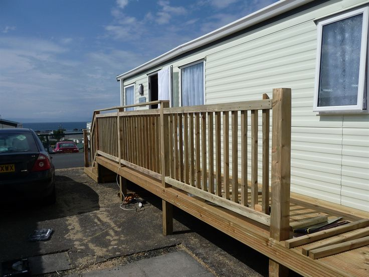 Simple Caravan Decking Lancashire  Decking Preston  Static