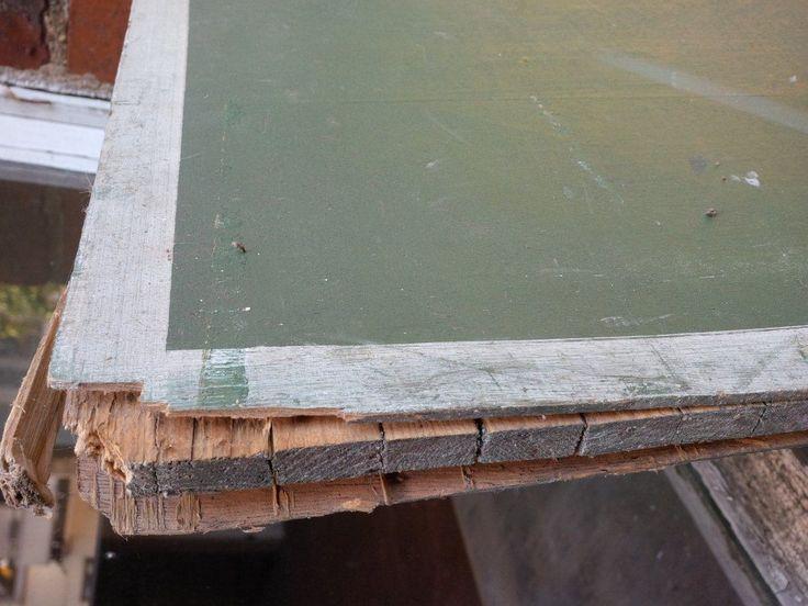 Tischtennis Platte Tischtennisplatte Holz 2 Teile ca 154 x 137 | eBay