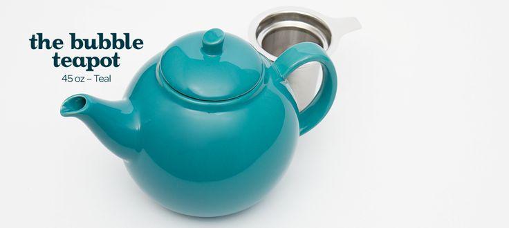teal bubble teapot (45oz) by DavidsTea