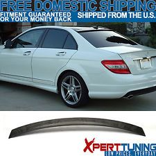 Fit For 2008-2014 Benz C-Class W204 4Dr OE #197 Obsidian Black Met Roof Spoiler