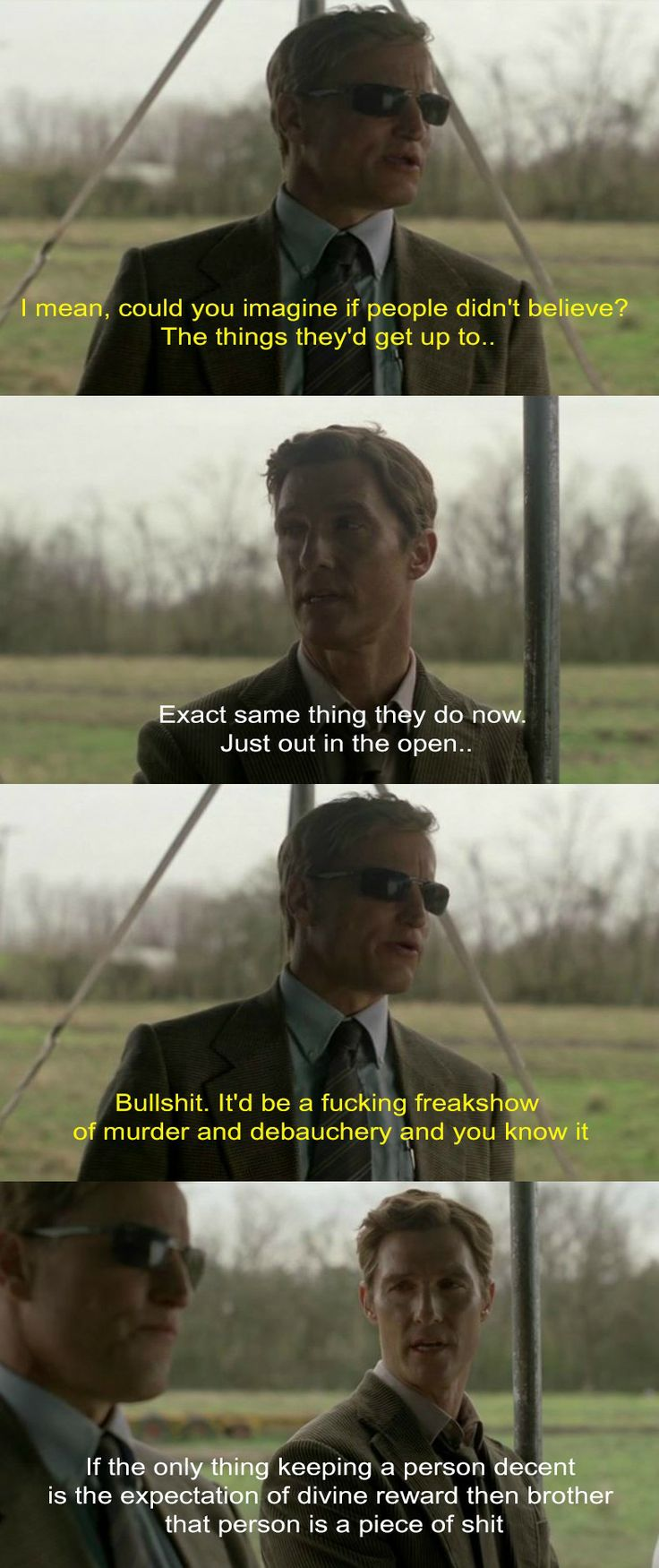 True Detective  Borderline obsessed with it. Woody and Matt should get married.