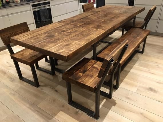 Reclaimed Industrial Chic 6 10 Seater Extending Dining