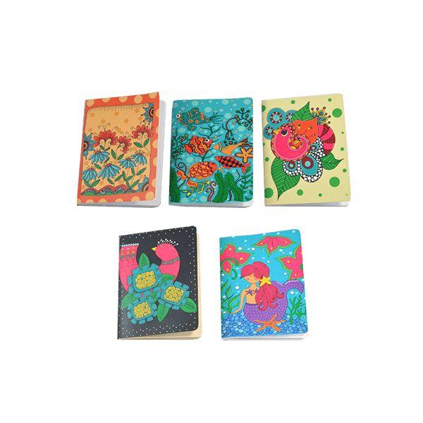 Set de libretitas Ilustradas. Estas libretas ilustradas son ideales para cargar en tu bolso.