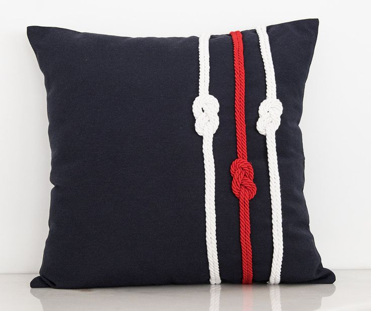 Decorative Handmade Pillow, Pillow with Marine Details, Gift Pillow, Summer House, Beach House Decorative Pillow, Designed with Ropes by TheSilknCotton on Etsy