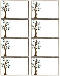 blank name tag labels