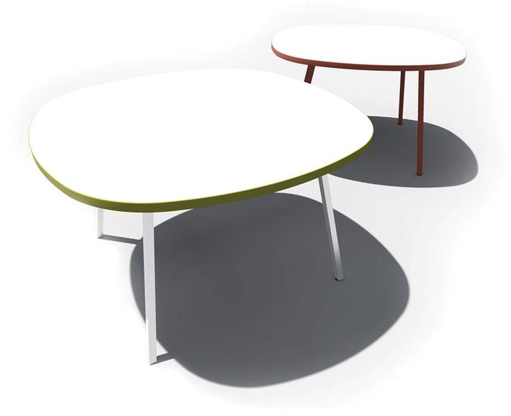 The NorvaNivel Pebble table is available in multiple heights and sizes, from coffee stable to standing height, ideal for all types of learning spaces. Optional writeable surface.