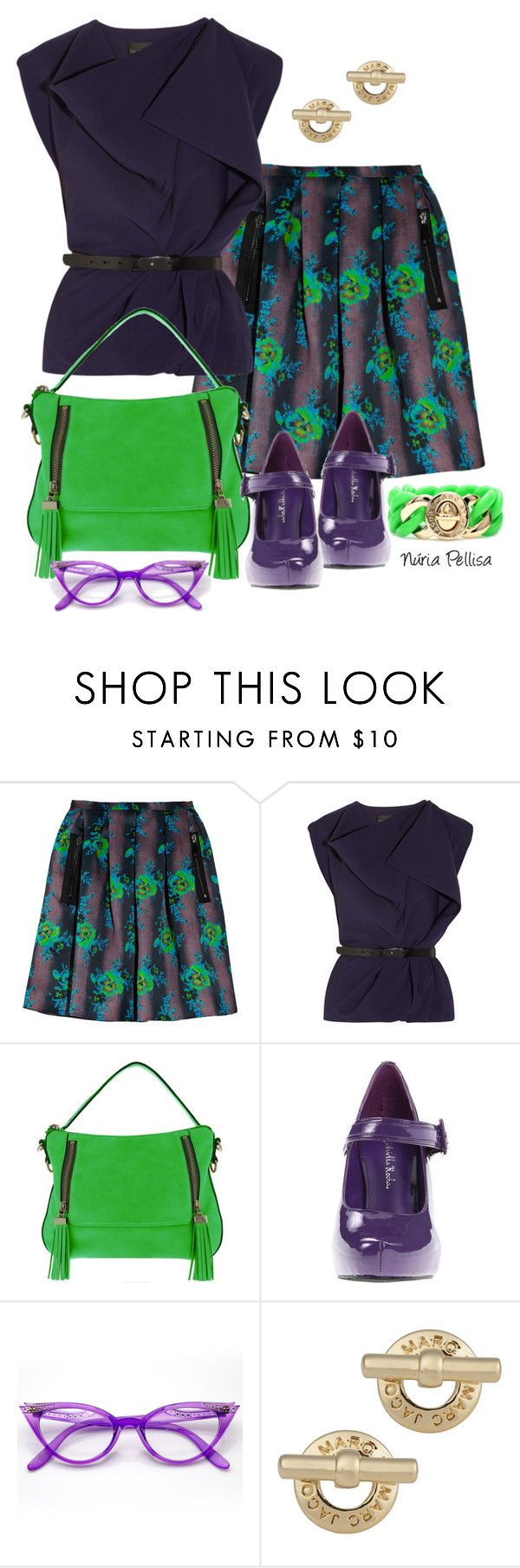 """""""Shirts with Belts"""" by nuria-pellisa-salvado ❤ liked on Polyvore featuring Christopher Kane, La Petite S*****, Melie Bianco, Gabriella Rocha and Marc by Marc Jacobs"""