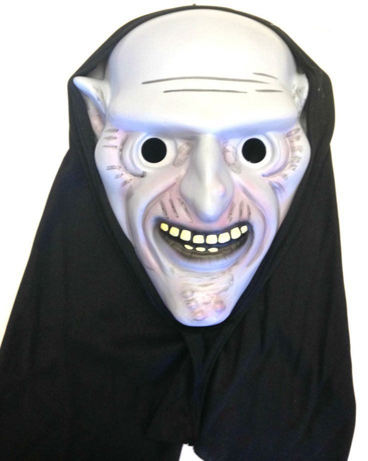 Premier Adult Halloween Blister Mask Ghoul with Hood