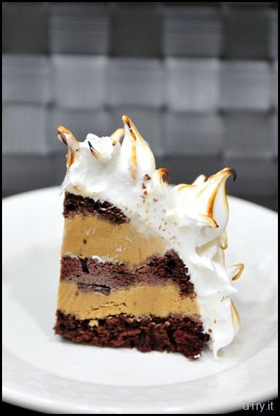 Chocolate and coffee Baked Alaska Ok - this just sounds good. But it looks incredible and really is quite easy to make - except for the blow torch!  Yes, a blow torch. But you can just use the oven if you're not into the torch thing.