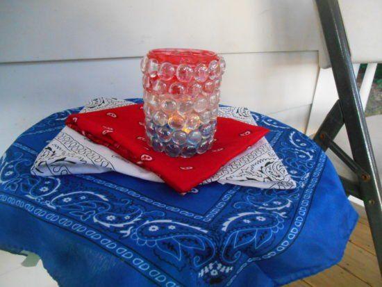 patriotic gem lantern, outdoor living, patriotic decor ideas, seasonal holiday decor