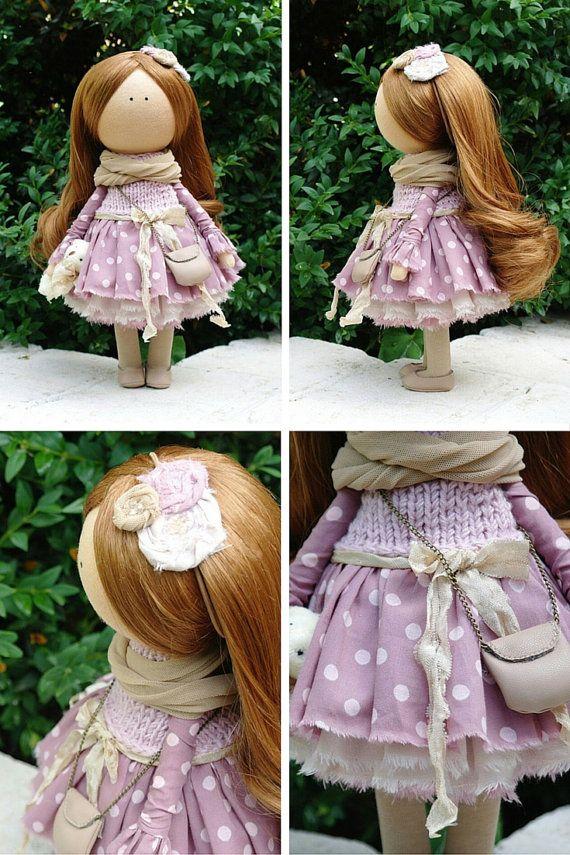 Tessuto bambola fatta a mano Tilda bambola di AnnKirillartPlace
