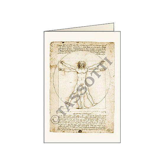 """Biglietti d'auguri Tassotti """"Leonardo uomo"""" - Greeting cards Tassotti """"Leonardo uomo"""" - Tarjetas de felicitaciòn Tassotti """"Leonardo uomo"""""""