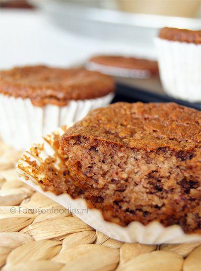 Glutenvrije en suikervrije hazelnoot muffins