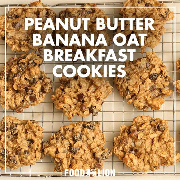 Who doesn't love cookies? The great flavor of peanut butter, banana and oats in a cookie so healthy you can eat it for breakfast- guilt-free.