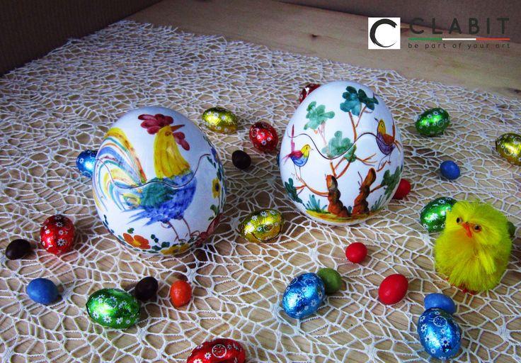 #Easter #Abruzzo #Pasqua #fioraccio #flowers #ceramic #handmade #fiori #flowers #blu #birds #trees #uccellini #alberi #gallo #cock