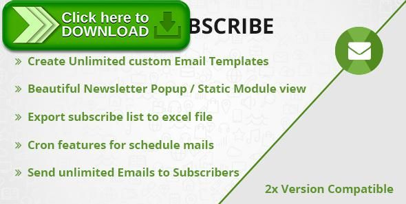 [ThemeForest]Free nulled download Newsletter Subscriber from http://zippyfile.download/f.php?id=49806 Tags: ecommerce, advance newsletter, awesome newsletter, email complain, newsletter, Newsletter Subscribe, newsletter subscriber, opencart newsletter, smart newsletter, subscriber
