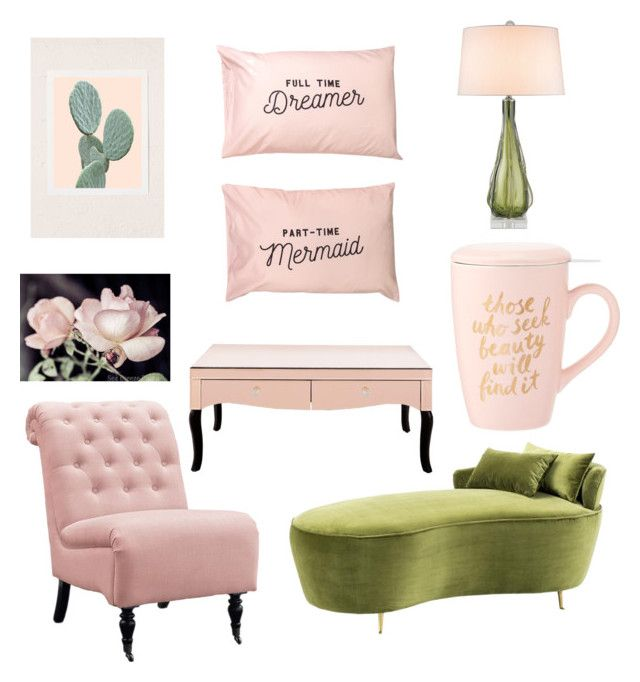 """green & blush"" by folea-petra-dana on Polyvore featuring interior, interiors, interior design, home, home decor, interior decorating, Eichholtz, Zephyr, Home Decorators Collection and Urban Outfitters"
