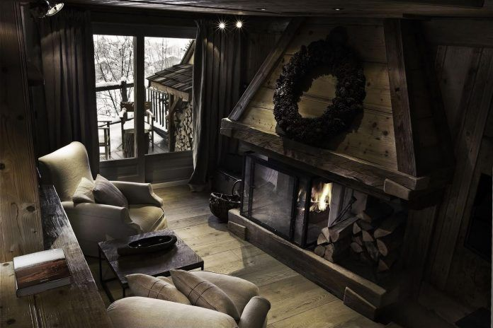 Renovated mountain resort using a rustic but inviting decorative style in Megève, France - CAANdesign | Architecture and home design blog