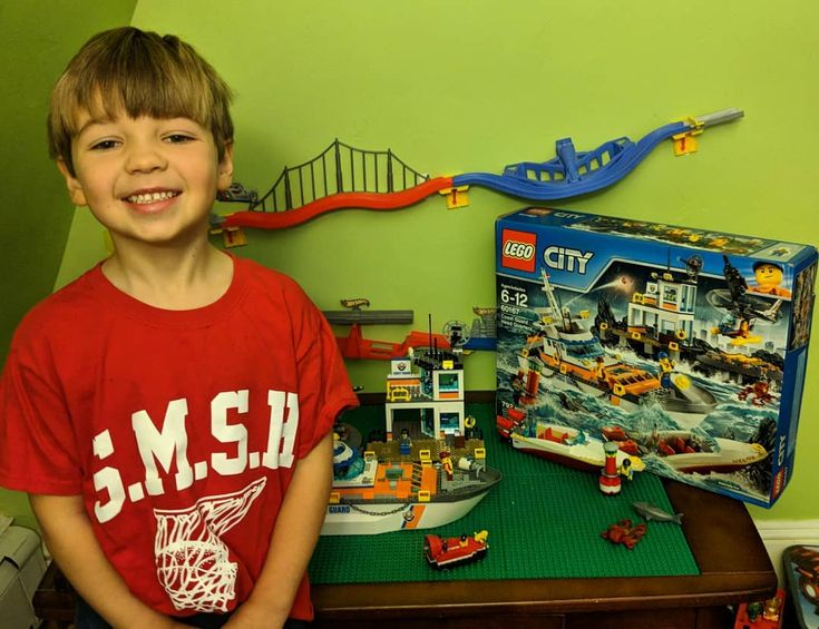 Super proud of building this LEGO Coast Guard Head Quarters set given to us by @thetoyinsider  #TIParent