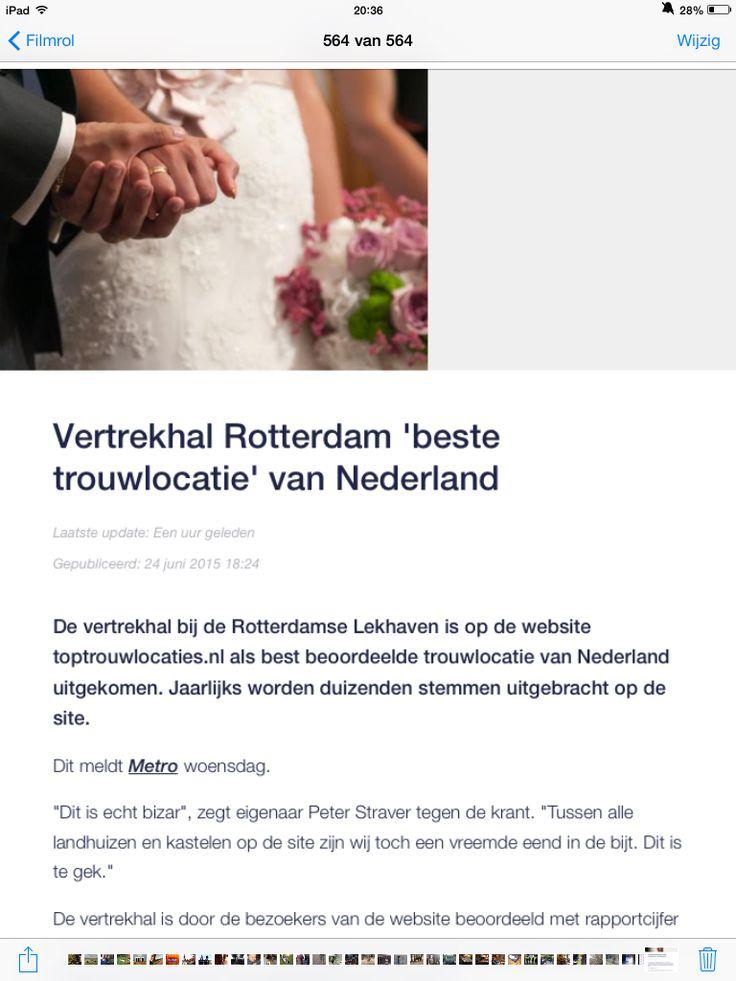 vertrekhal Rotterdam beste trouwlocatie van Nederland