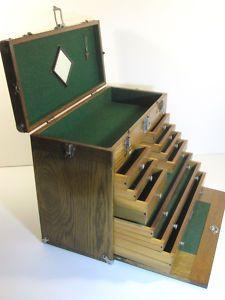 H GERSTNER & SONS OAK TOOL BOX