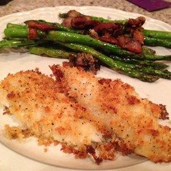 Baked Flounder with Panko and Parmesan Allrecipes.com (using on cod and haddock, though)