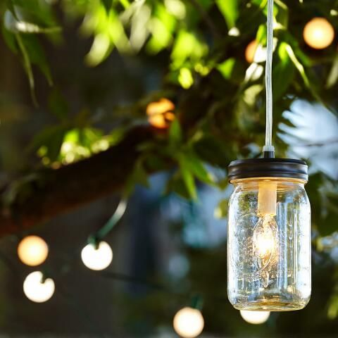 Convert any mason jar into a pendant light pendant with our exclusive Mason Jar Pendant Light Kit. Simply screw the gunmetal lid onto a quart-sized, wide-mouth mason jar and add a bulb to create an instant lighting solution full of vintage style.